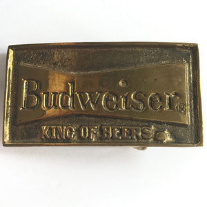 Other - Vintage Original Solid Brass Budweiser Belt Buckle
